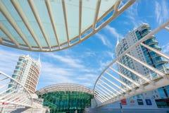 Архитектура станции Лиссабона Oriente в дневном свете Стоковое Изображение