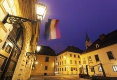 Архитектура старого верхнего городка в Загребе Стоковые Изображения RF