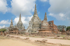 Архитектура старого виска, sanphet Wat Phra si на Ayutthaya, тайском Стоковые Изображения