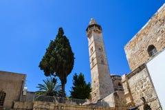 Архитектура старого города Башня и здания Израиль Иерусалим Стоковая Фотография