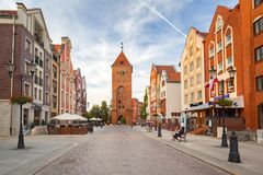Архитектура старого городка Elblag, Польши стоковые фото