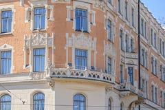 Архитектура стиля Nouveau искусства в Хельсинки Стоковое Фото