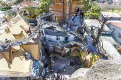 Архитектура сумасшедшего дома в Dalat, Вьетнаме стоковая фотография rf