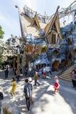 Архитектура сумасшедшего дома в Dalat, Вьетнаме стоковые фото