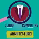 Архитектура схематического облака показа сочинительства руки вычисляя Компоненты фото дела showcasing и отношения иллюстрация вектора