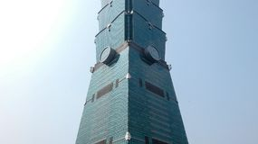 Архитектура Тайбэя 101 строя Стоковое Изображение