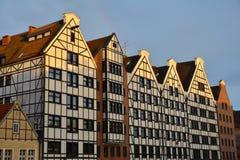 Архитектура традиционных зданий в Гданьске, Польше Стоковое Изображение RF