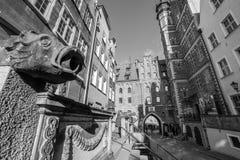 Архитектура улицы Mariacka в Гданьске Стоковое Изображение RF