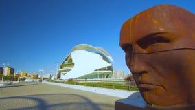 Архитектура центра города Валенсии Испании сток-видео