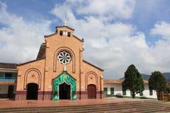 Архитектура AlejandrÃa, Antioquia, Колумбии Стоковые Изображения RF