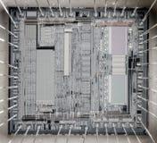 Архитектура C.P.U. Стоковое Изображение RF