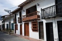 Архитектура colonial Санта-Фе de Antioquia Стоковая Фотография