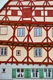 Архитектура Fachwerkhaus жизнерадостная Стоковое фото RF