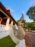 Архитектура Lanna скульптуры змея тайская, Чиангмай Стоковое фото RF