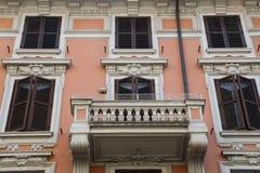 Архитектура Nouveau искусства в Риме стоковые фотографии rf