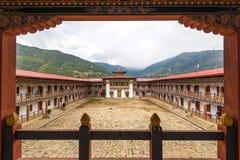 Архитектура Nunnery в Bumthang, Бутане стоковое изображение