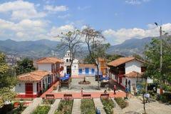 Архитектура ` Pueblito Paisa `, MedellÃn, Antioquia, Колумбии Стоковое фото RF