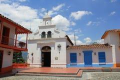Архитектура ` Pueblito Paisa `, MedellÃn, Antioquia, Колумбии Стоковая Фотография