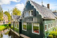 Архитектура Zaanse Shaans, Нидерландов стоковое изображение rf