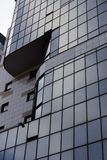 Архитектурноакустическая внешняя деталь промышленного офисного здания Стоковая Фотография