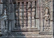 Архитектурноакустическая деталь на Banteay Kdei Стоковое Изображение RF