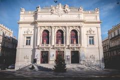 Архитектурноакустическая деталь театра Moliere Sete, Франции стоковое изображение