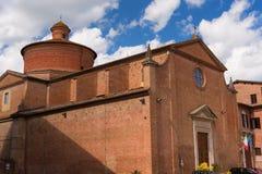 Архитектурноакустическая деталь церков в Сиене, Италии Стоковое Изображение RF