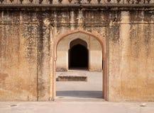 Архитектурноакустическая деталь янтарного форта в Джайпуре Стоковая Фотография