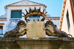 Архитектурноакустическая деталь, Венеция Италия, Европа Стоковая Фотография RF