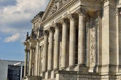 Архитектурноакустическая деталь верхней части немецкого парламента Reichstag - Германского Бундестага в Берлине Стоковое Изображение