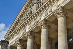 Архитектурноакустическая деталь верхней части немецкого парламента Reichstag - Германского Бундестага в Берлине Стоковые Фотографии RF