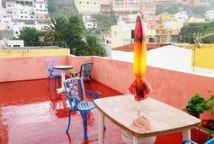 Архитектурноакустическая деталь в Ла Gomera San Sebastian de Стоковые Фотографии RF