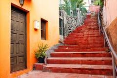 Архитектурноакустическая деталь в Ла Gomera San Sebastian de Стоковые Изображения RF