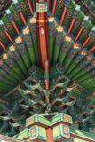 Архитектурноакустическая деталь - деталь традиционной крыши в Changdeokgu Стоковые Изображения RF