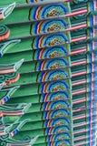 Архитектурноакустическая деталь - деталь традиционной крыши в Changdeokgu Стоковая Фотография