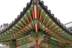 Архитектурноакустическая деталь изолировала - деталь традиционной крыши в Ch Стоковые Изображения RF