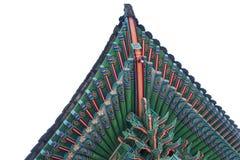 Архитектурноакустическая деталь изолировала - деталь традиционной крыши в Ch Стоковые Изображения