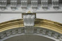 Архитектурноакустическая деталь мечети положения Abu Bakar султана в Джохоре Bharu, Малайзии Стоковое Изображение