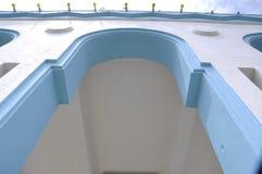 Архитектурноакустическая деталь на Dato Bentara Luar Masjid Jamek в Batu Pahat, Джохоре, Малайзии Стоковая Фотография RF