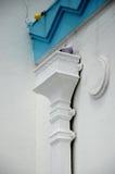 Архитектурноакустическая деталь на Dato Bentara Luar Masjid Jamek в Batu Pahat, Джохоре, Малайзии Стоковое фото RF