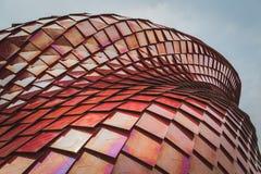 Архитектурноакустическая деталь павильона Vanke на экспо 2015 в милане, оно Стоковое фото RF