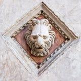 Архитектурноакустическая деталь церков в Сиене Стоковое Изображение RF