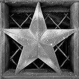 Архитектурноакустическая звезда черно-белая Стоковое Фото