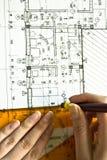 архитектурноакустическая светокопия Стоковая Фотография RF
