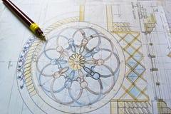 архитектурноакустическая светокопия Стоковые Изображения RF