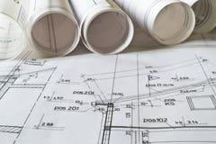 архитектурноакустическая светокопия Стоковая Фотография