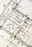 архитектурноакустическая светокопия Стоковое Фото