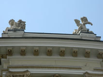 Архитектурноакустическая скульптура на зданиях Стоковая Фотография
