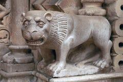Архитектурноакустическая скульптура льва Стоковое Фото