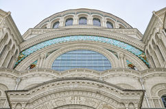 Архитектурноакустическая часть военноморского собора St Nicholas в Kronstadt Стоковые Фотографии RF